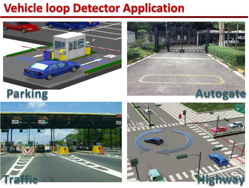 auto barrier gate loop detector application