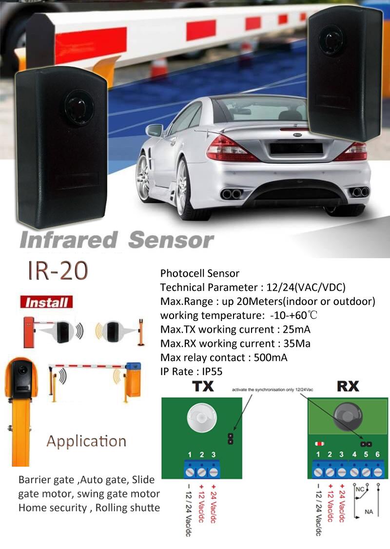 Sensor infravermelho de fotocélula