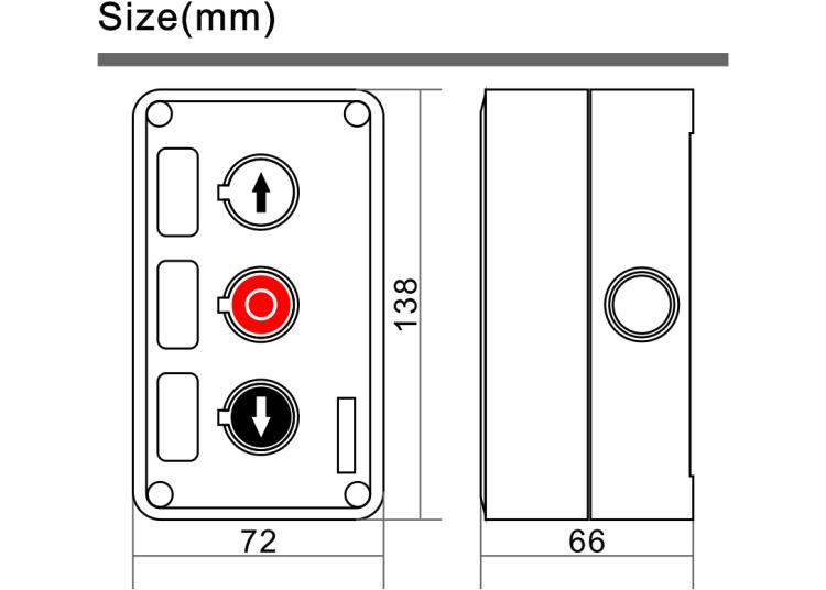 Switch Push Buttons-Anwendung für Barrier Gate Operator und Auto Gate