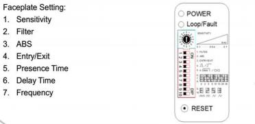 Impostazione del rilevatore di loop LD-105