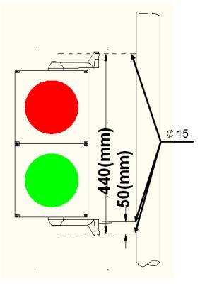 100 مم إشارة مرور وقوف السيارات باللون الأخضر والأحمر