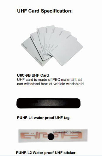 uhf sticker and card