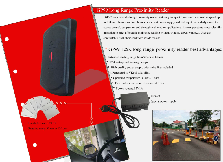 JUTAI 125khz Long Range Proximity Cards with 130cm Reading Distance